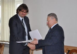 Deputy Director-Commercial – Marcin Gawroński MSc. Eng. and Vice-Rector on scientific-research work of National Aviation University - Volodymyr Kharchenko Ph.D. Eng., Professor