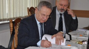 Prorektor ds.naukowo-badawczych Narodowego Uniwersytetu Lotniczego, prof.drinż.Vołodymir Kharchenko