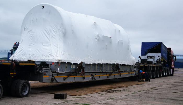 Transport turbiny gazowej