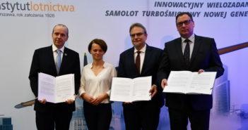 Podpisanie listu intencyjnego w sprawie budowy samolotu ILX-34