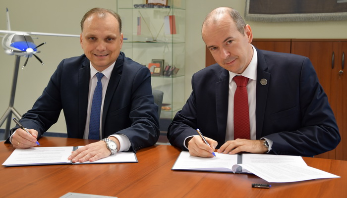 Podpisanie umowy o współpracy odbyło się w Instytucie Lotnictwa w dniu 20 listopada 2018 | The signing of a cooperation agreement was held at the Institute of Aviation on November 20, 2018