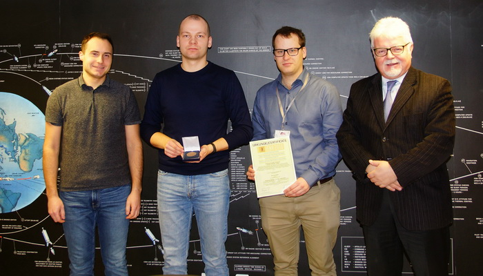 ILR-33 Amber rocket engineers awarded a bronze medal at iENA Trade Fair in Nuremberg